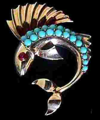 Boucher Fish Brooch, c. 1943, $389 Retail