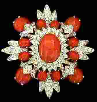 Kenneth Jay Lane Maltese Cross, c. 1980, $365 Retail