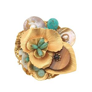 Miriam Haskell Shell Pin From Avelle, $300 Retail, Now $195, or $17/Week