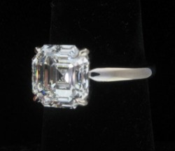 Incredible 5.33 ct Asscher Cut Ring, Alexandria Rossoff