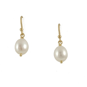18kt and Pearl Earrings by Anne Sportun from Clay-Pot.com, $126 Retail