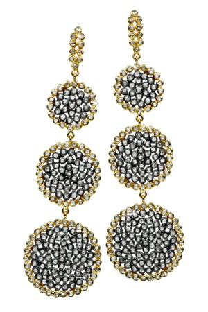 Karma Diamond Triple Circle Earrings