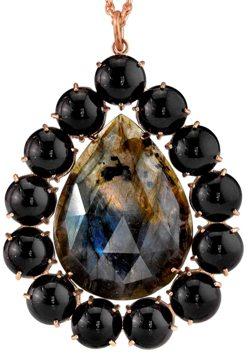 Labradorite and Onyx Pendant