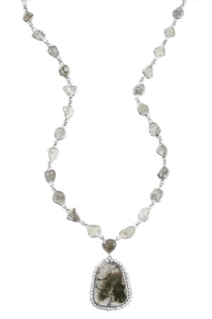 Royal Sliver Diamond Necklace, 17 carats TW