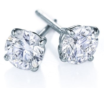 1 Ct TW H-I Color, SI Clarity Diamond Earrings from James Allen, $1940 Retail