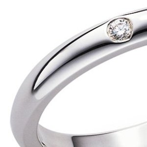 Elsa Peretti Band Ring in Silver with Diamond from Tiffany and Co., $275 Retail