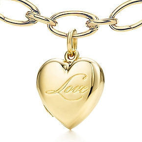 18K Heart Locket from Tiffany and Co., Locket $400 Retail, Locket with Gold Necklace, $2700 Retail