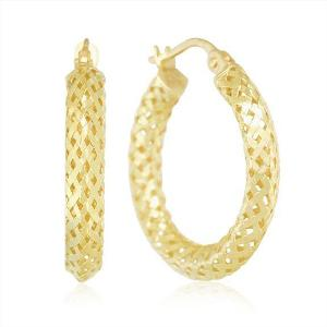 Roberto Coin Woven Silk Yellow Gold Hoops, from Windsor Fine Jewelers, $400 Retail