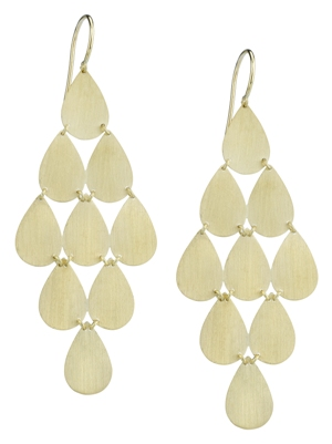 Irene Neuwirth 18kt Yellow Gold 9-Drop Earrings, $1850 Retail
