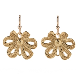 """Mary Ellen"" Vermeil Earrings by Kimberly Baker, $140 Retail"
