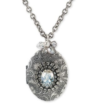 Liz Palacios Locket with Freshwater Pearls and Crystals, $128 Retail from Nordstrom.com