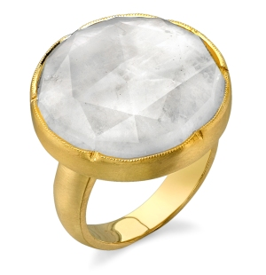 Irene Neuwirth Moonstone Ring in 18kt Yellow Gold, $2440 Retail