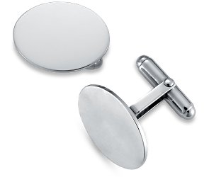 Oval Engravable Silver Cufflinks from Blue Nile, $75 Retail