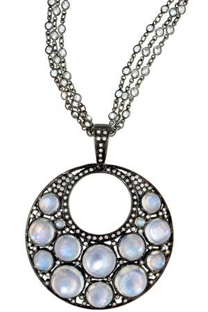 Unison Bubble Pendant in 18kt White Gold and Silver, $2350 Retail for Pendant alone