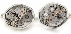 Vintage Watch Movement Cufflinks from Cuffart.com, $155 Retail