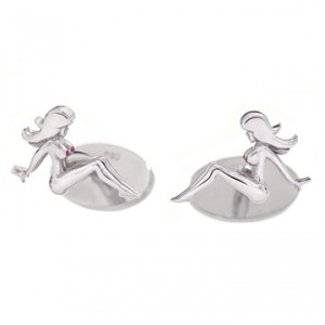 Mud Flap Jill Cufflinks by Wendy Brandes, $350 Retail