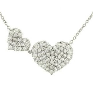 Pave Diamond Heart Pendant by Vera Wang, Retail $3021.75