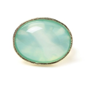 Marcia Moran Blue Agate and Vermeil Ring, $100 Retail