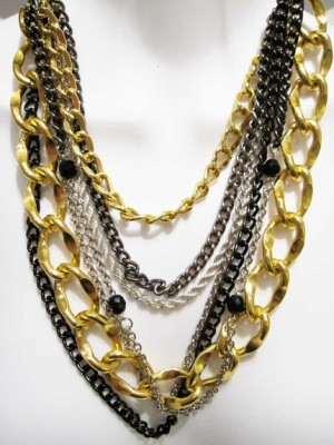 Multi Chain Necklace by Vanessa Moore on Etsy.com, $65 Retail