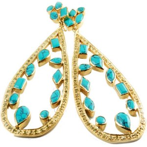 Melinda Maria Mosaic Turquoise Earrings, $265 Retail