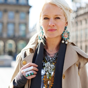 Piles of jewelry pulled off oh-so-right, captured by The Sartorialist